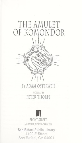 The amulet of Komondor by Adam Osterweil