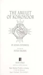 Cover of: The amulet of Komondor | Adam Osterweil