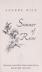 Cover of: Summer of Roses Large Print