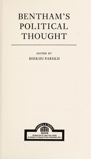 Cover of: Political thought