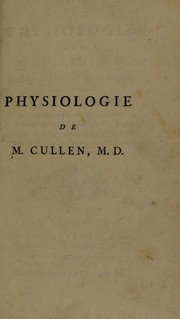 Cover of: Physiologie de M. Cullen