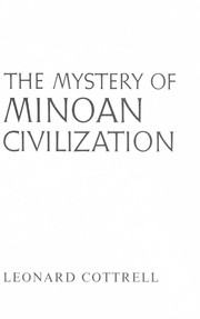 Cover of: The mystery of Minoan civilization