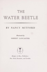 Cover of: The water beetle