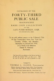 Cover of: Catalogue of the forty-third public sale | Thomas L. Elder