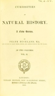 Cover of: Curiosities of natural history