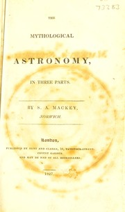 Cover of: The mythological astronomy, in three parts
