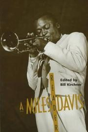Cover of: MILES DAVIS RDR