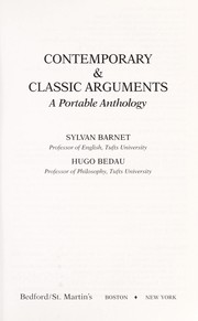 Cover of: Contemporary & classic arguments |