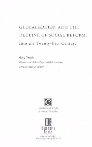 Globalization and the decline of social reform by Gary Teeple