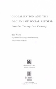 Cover of: Globalization and the decline of social reform | Gary Teeple
