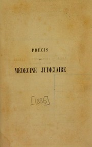 Cover of: Pr©♭cis de m©♭decine judiciaire