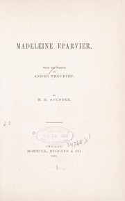 Cover of: Madeleine Eparvier