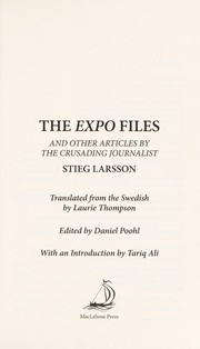 Cover of: The Expo files and other articles