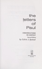 Cover of: The letters of Paul | Calvin J. Roetzel