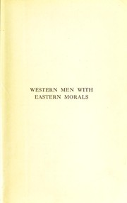 Cover of: Western men with eastern morals