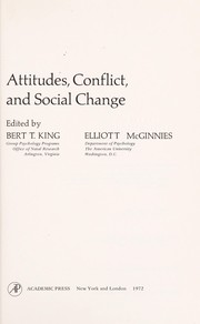 Cover of: Attitudes, conflict, and social change | Symposium on Attitudes, Conflict, and Social Change University of Maryland 1970.