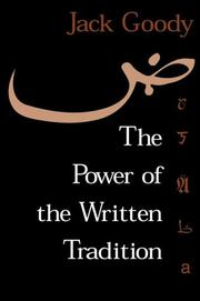 Cover of: The power of the written tradition