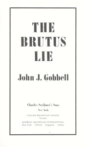 Cover of: The Brutus lie