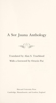Cover of: A Sor Juana anthology