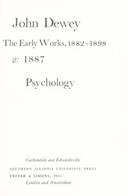 Cover of: The early works, 1882-1898