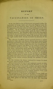 Cover of: Report of experiments made under direction of the Lords of the Council as to the vaccination of sheep, and as to the influence of such vaccination in preventing sheep-pox | James F. Marson