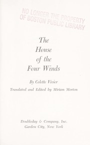 Cover of: The house of the four winds. | Colette Vivier