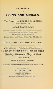 Cover of: Catalogue of coins and medals