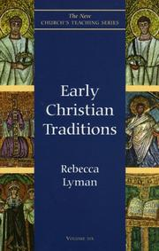 Cover of: Early Christian traditions