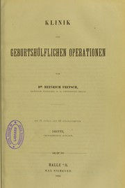 Cover of: Klinik der geburtsh©ơlflichen Operationen
