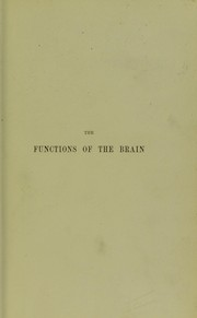 Cover of: The functions of the brain | David Ferrier