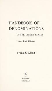 Cover of: Handbook of denominations in the United States | Mead, Frank Spencer