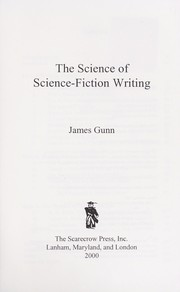 Cover of: The science of science-fiction writing
