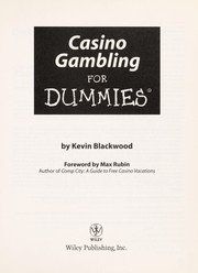 Cover of: Casino gambling for dummies | Kevin Blackwood