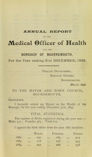 Cover of: [Report 1895] | Bournemouth (England). County Borough Council. nb2004301338