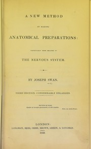 Cover of: A new method of making anatomical preparations