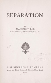 Cover of: Separation