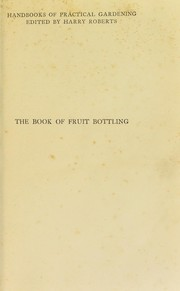 Cover of: The book of fruit bottling
