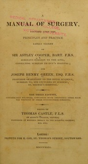 Cover of: A manual of surgery