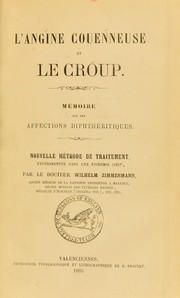 Cover of: L'angine couenneuse et le croup