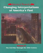 Cover of: Changing Interpretations of America's Past
