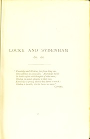 Cover of: Locke and Sydenham and other papers