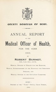 Cover of: [Report 1908]
