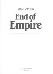 End of empire by Brian Lapping