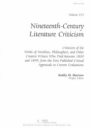 Cover of: Nineteenth-century literature criticism | Kathy D. Darrow