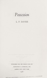 Cover of: Possession | L. P. Davies
