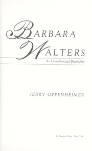 Barbara Walters by Jerry Oppenheimer