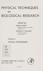 Cover of: Physical techniques in biological research