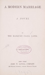 Cover of: A modern marriage | Lanza, Clara Marquise