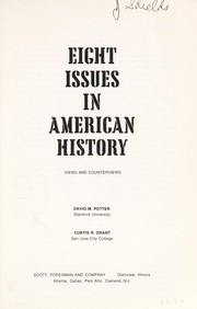 Cover of: Eight issues in American history