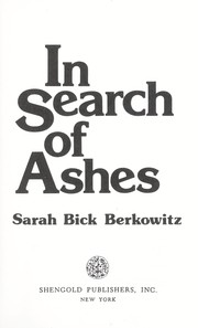 Cover of: In search of ashes